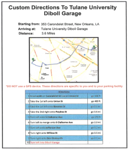 Give fans turn-by-turn directions to their garage. Tell them: ignore your GPS, this is the best way to go.
