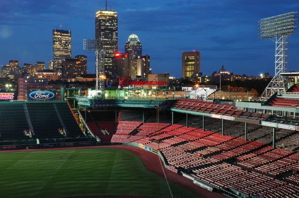 Boston skyline from Fenway Park