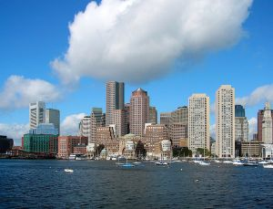 Boston Skyline 2024 Olympics